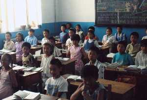 Schulklasse in China (4. Grundschule Liaoyang)